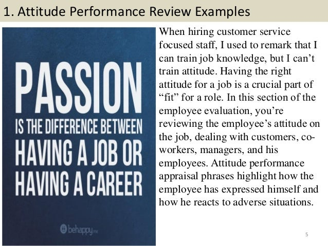 performance reviews examples