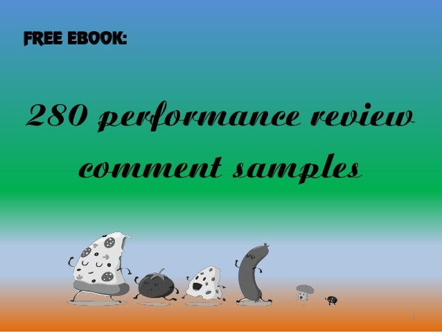 1 280 performance review comment samples FREE EBOOK: