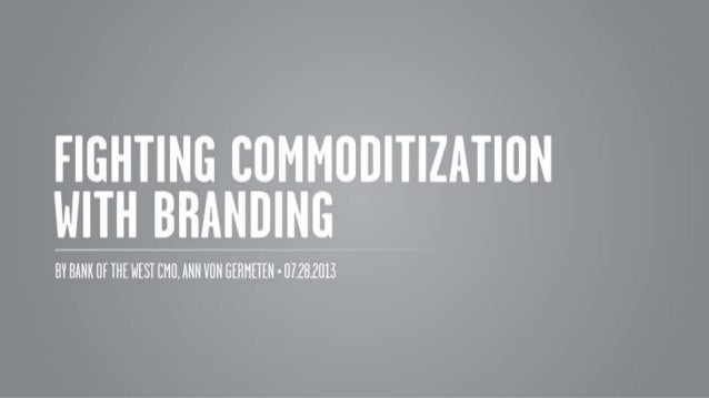 Fighting Commoditization with Branding from DRS, 7.28.14