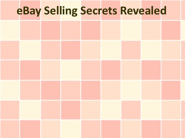 eBay Selling Secrets Revealed