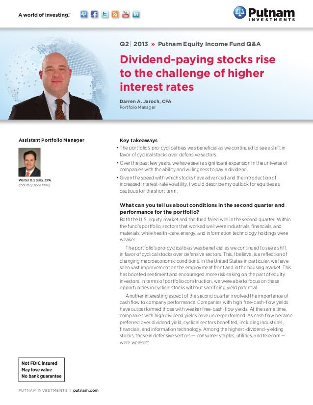 PUTNAM INVESTMENTS putnam.com Key takeaways •The portfolio's pro-cyclical bias was beneficial as we continued to see a s...