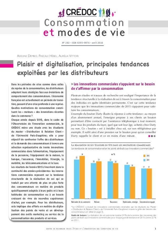 centre de recherche pour l'étude et l'observation des conditions de vie Adeline Dembo, PascaleHébel, AuréliaVittori Pla...