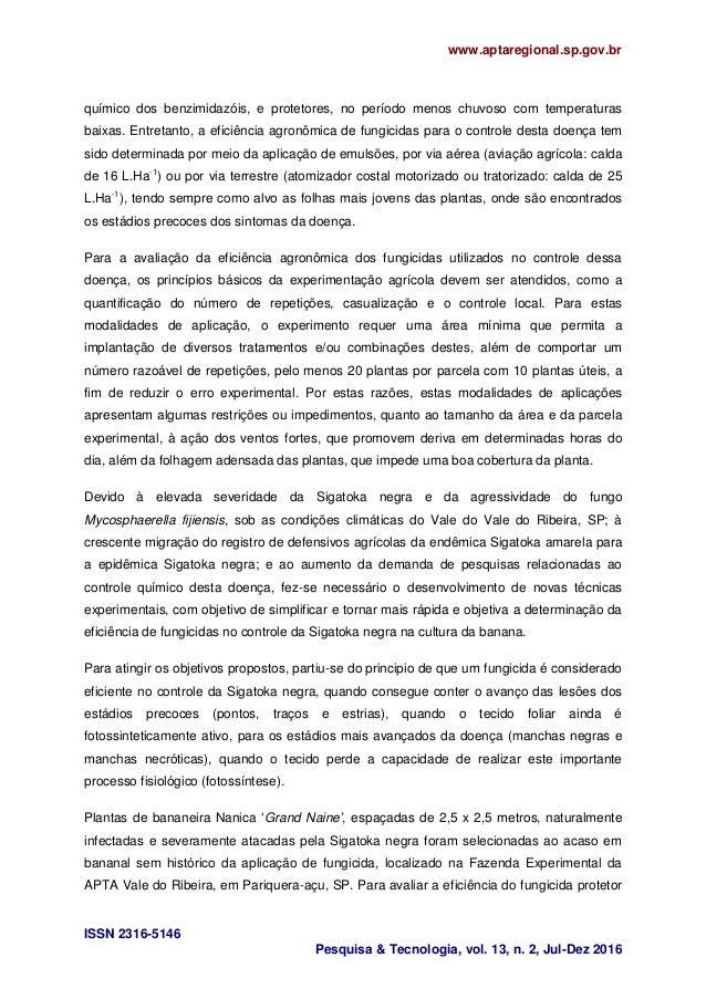 www.aptaregional.sp.gov.br ISSN 2316-5146 Pesquisa & Tecnologia, vol. 13, n. 2, Jul-Dez 2016 químico dos benzimidazóis, e ...