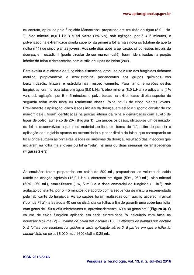 www.aptaregional.sp.gov.br ISSN 2316-5146 Pesquisa & Tecnologia, vol. 13, n. 2, Jul-Dez 2016 ou contato, optou-se pelo fun...