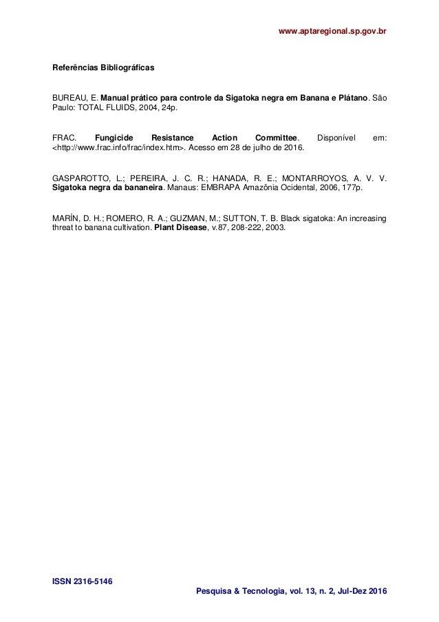 www.aptaregional.sp.gov.br ISSN 2316-5146 Pesquisa & Tecnologia, vol. 13, n. 2, Jul-Dez 2016 Referências Bibliográficas BU...