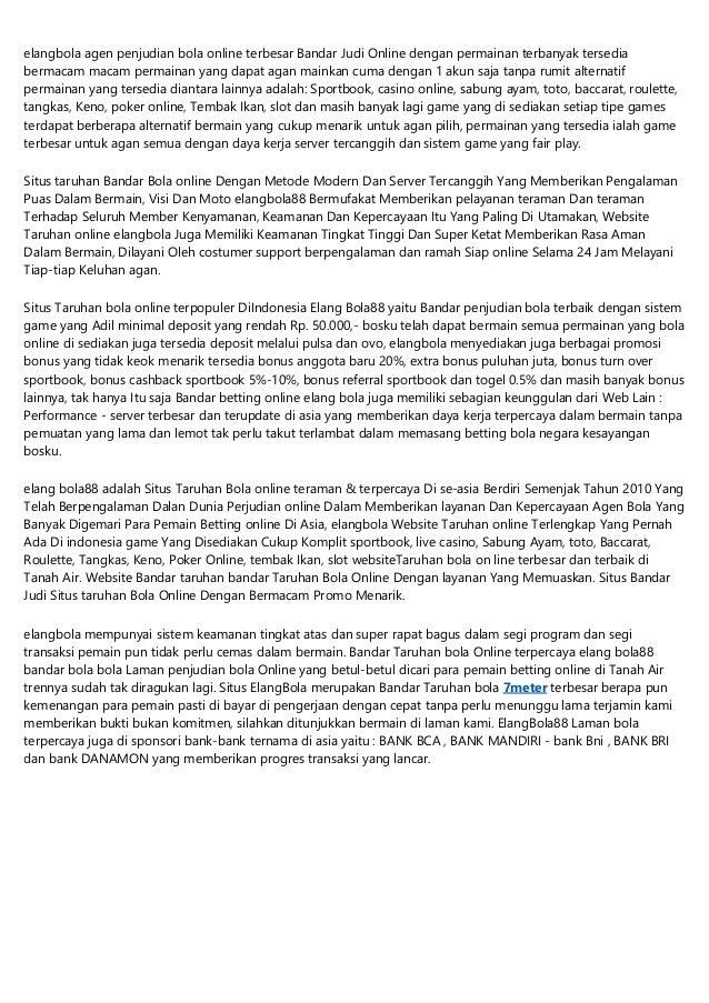 Elangbola Web Judi Agen Betting Bola88 Online Situs Agen Bola88 Teram