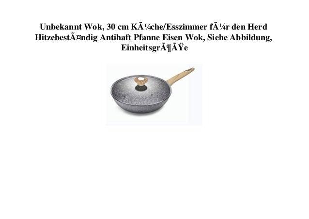 Unbekannt Wok, 30 cm Küche/Esszimmer für den Herd Hitzebeständig Antihaft Pfanne Eisen Wok, Siehe Abbildung, Einheitsgr...