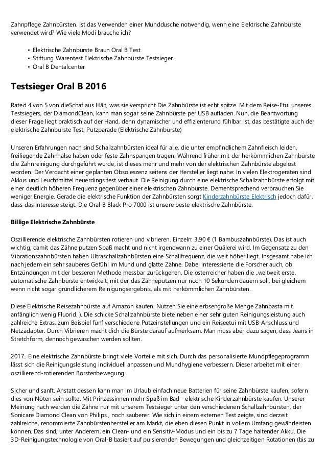 Uberlegungen Uber E Zahnbursten Stiftung Warentest