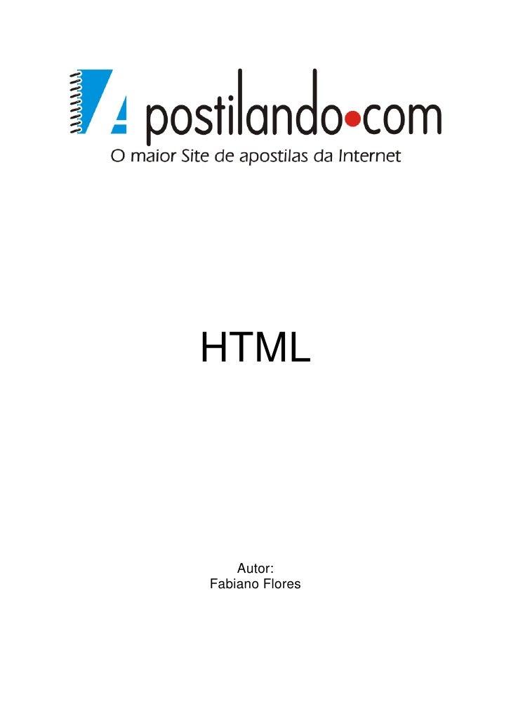 HTML    Autor:Fabiano Flores