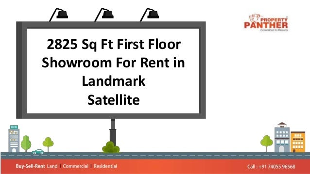 2825 Sq Ft First Floor Showroom For Rent in Landmark Satellite