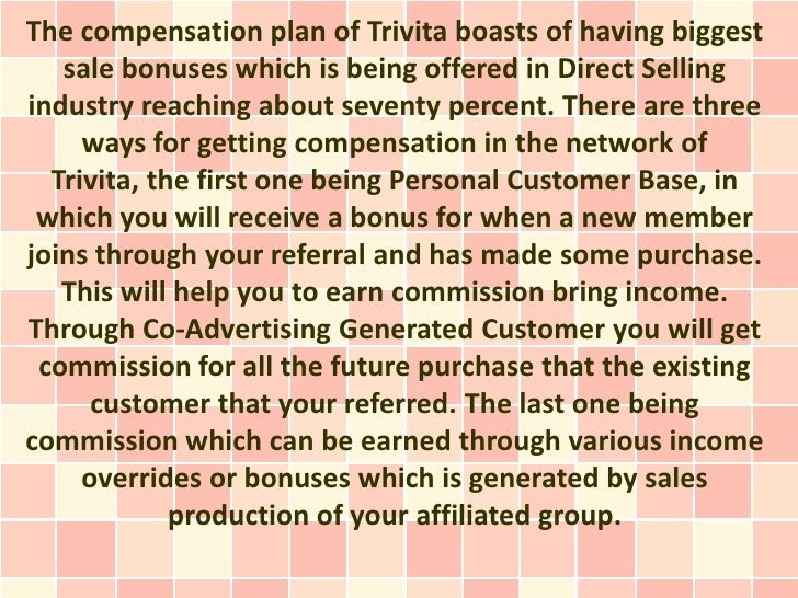 Trivita compensation plan