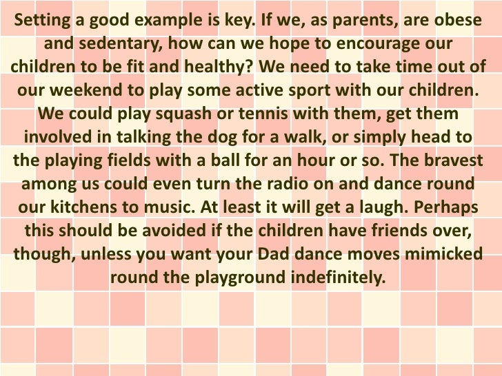 Tackling Childhood Obesity With Exercise Slide 2
