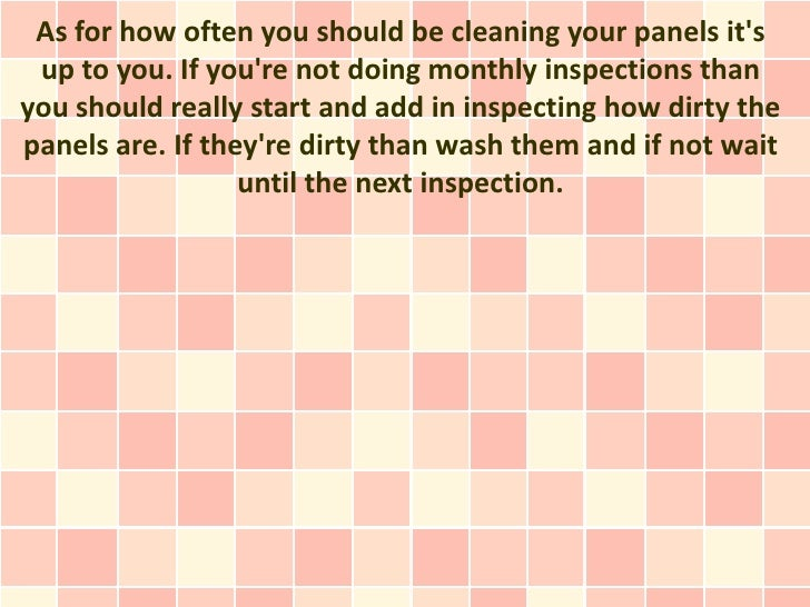 Cleaning solar panels How often should you wash your towels