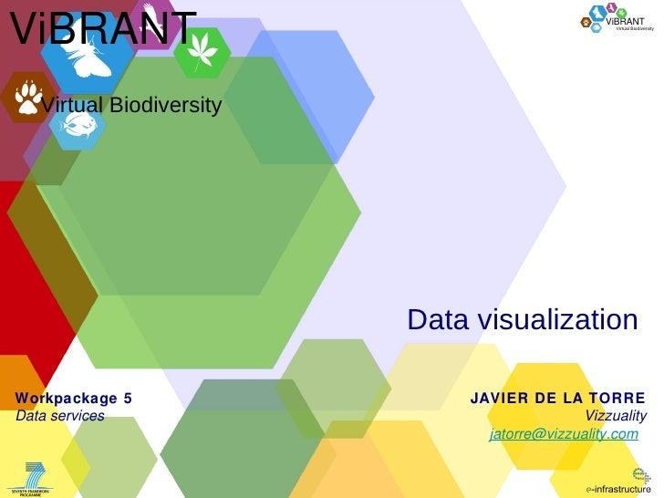 Data visualization Virtual Biodiversity ViBRANT JAVIER DE LA TORRE Vizzuality [email_address]   Workpackage 5 Data service...