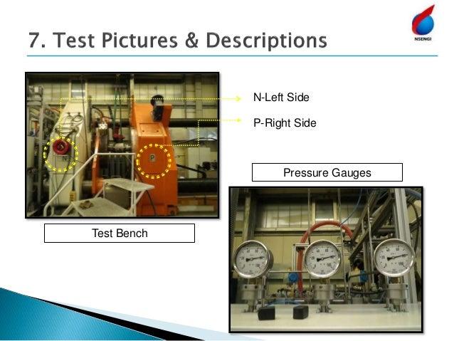 N-Left Side P-Right Side Test Bench Pressure Gauges