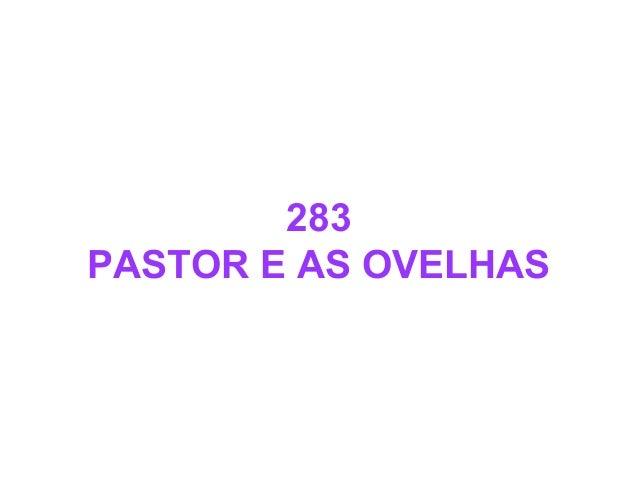 283 PASTOR E AS OVELHAS