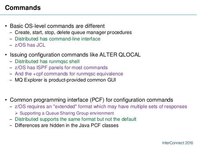 IBM MQ - Comparing Distributed and z/OS platforms