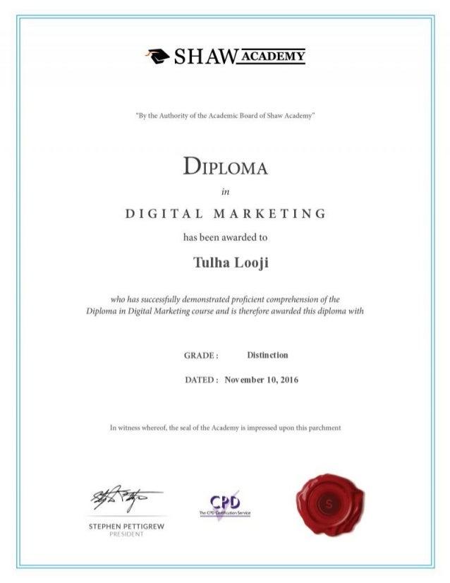 marketing digital certificate slideshare basic upcoming