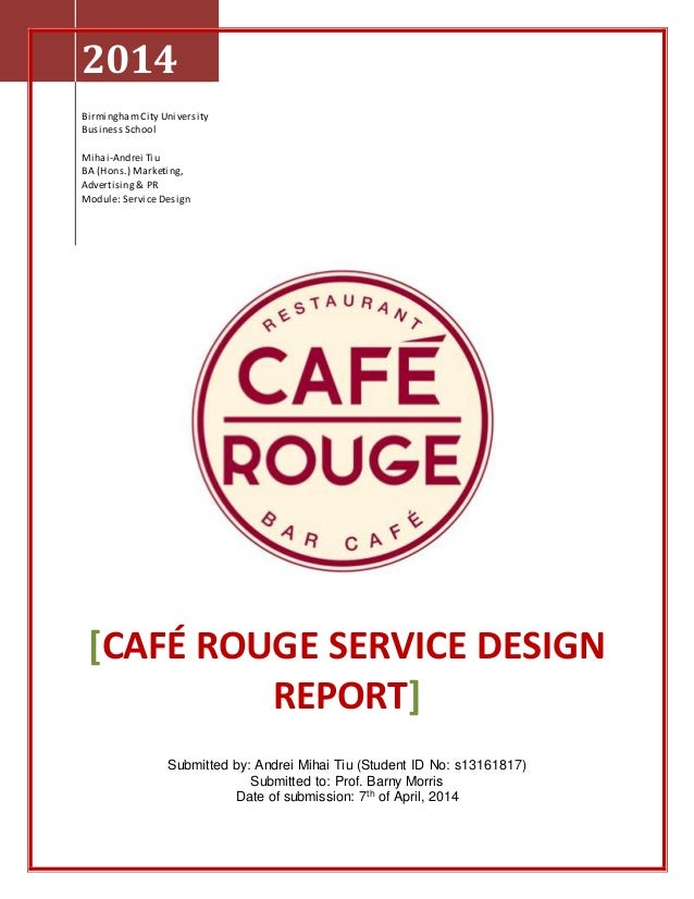 Service Design Exam Project - Cafe Rouge