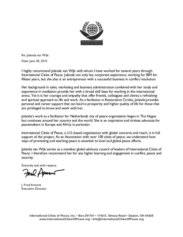 Icp Recommendation Letter