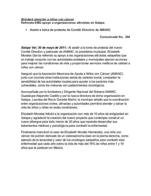 Brindará atención a niños con cáncer Refrenda EMG apoyo a organizaciones altruistas en Xalapa • Asiste a toma de protesta ...