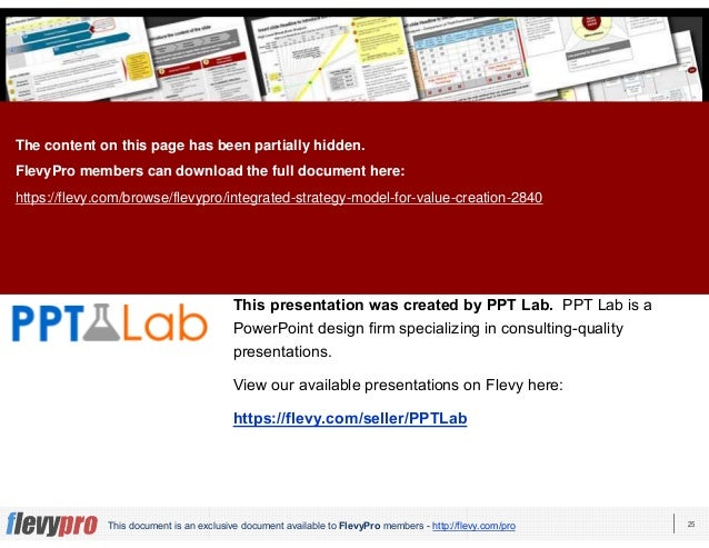 25This document is an exclusive document available to FlevyPro members - http://flevy.com/pro This presentation was create...