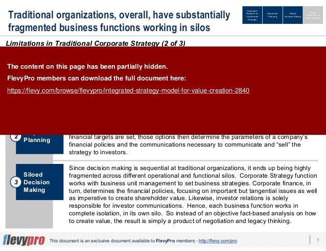 7This document is an exclusive document available to FlevyPro members - http://flevy.com/pro Traditional organizations, ov...