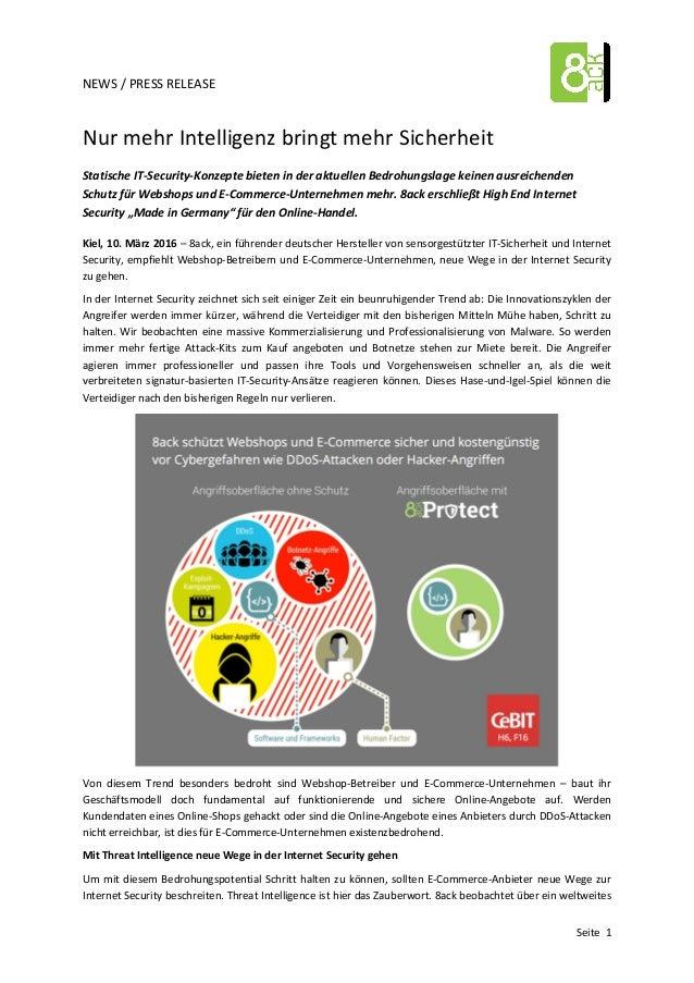 NEWS  /  PRESS  RELEASE         Seite    1   Nur  mehr  Intelligenz  bringt  mehr  Sich...