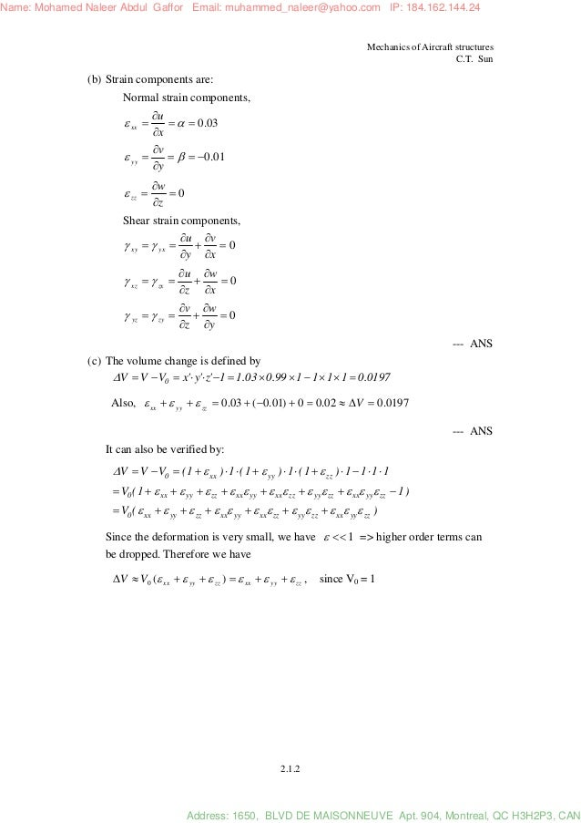 applied mechanics of solids solution manual