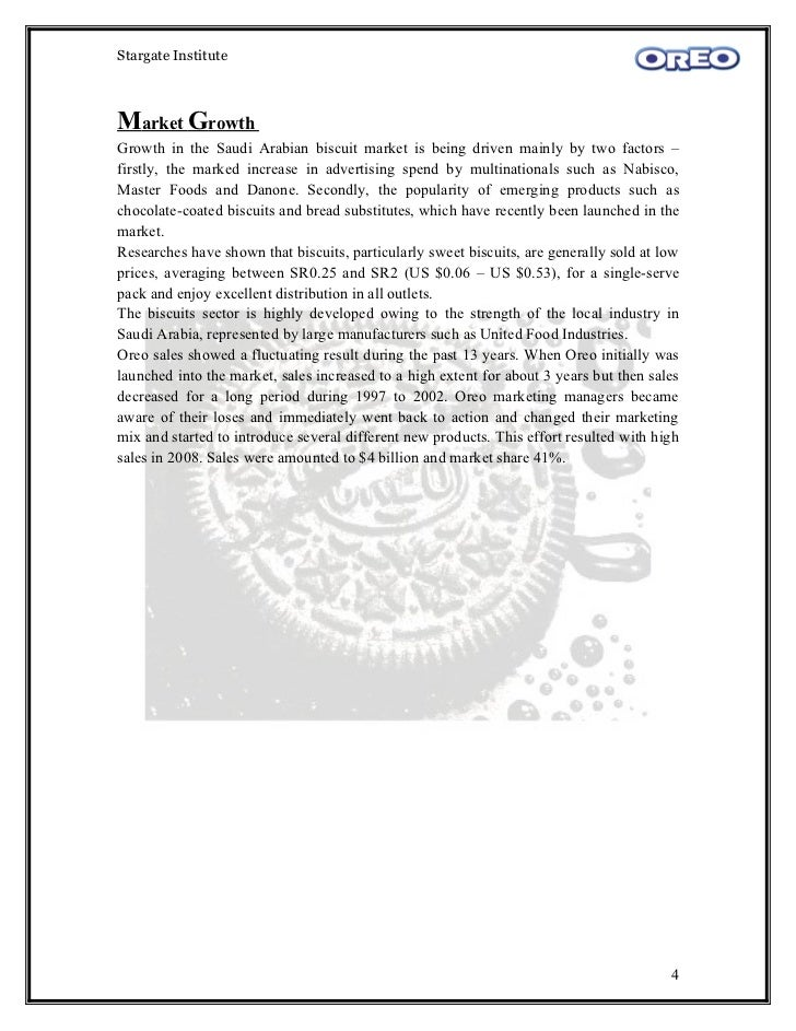 oreo market research A new market: case study in the united states vs thailand  research is to  conduct a cross cultural study to see the varying factors that affect.