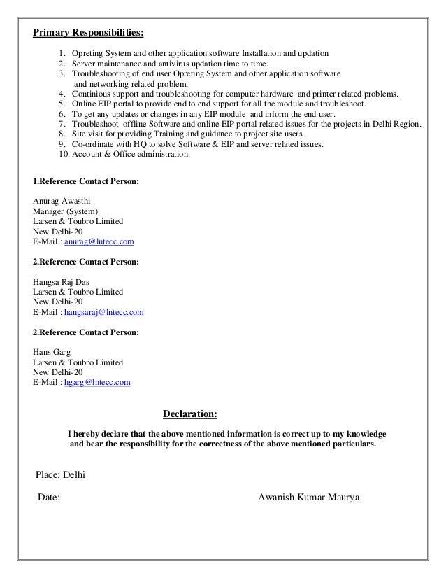 awanish resume  system administrator chandigarh