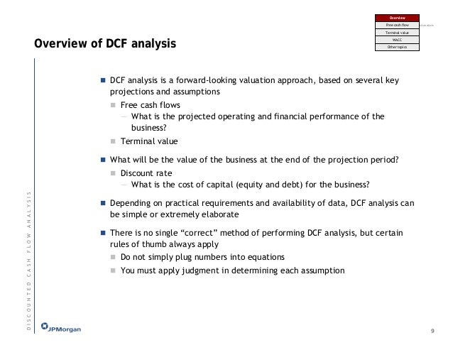 JP MORGAN DCF AND M&A ANALYSIS