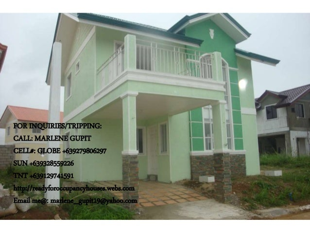 FOR INQUIRIES/TRIPPING: CALL: MARLENE GUPIT CELL#: GLOBE +639279806297 SUN +639328559226 TNT +639129741591 http://readyfor...