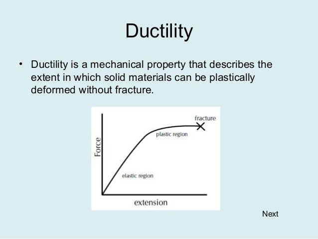 Is Ductility A Physical Property