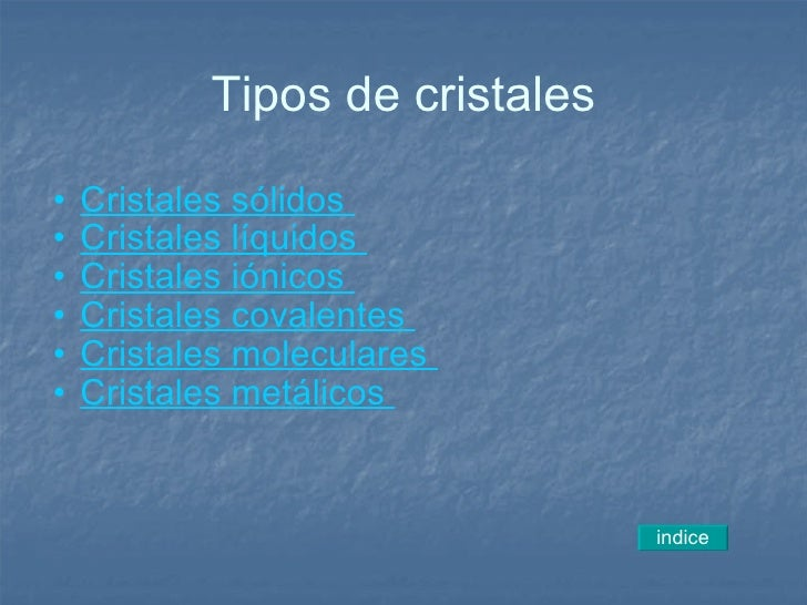 El cristal - Cristales climalit tipos ...