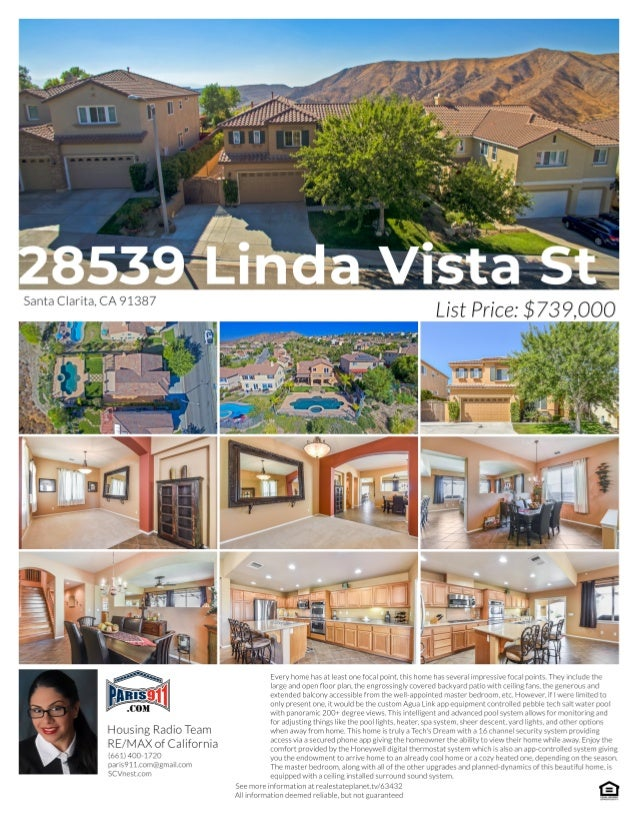 28539 linda vista street, canyon country ca 91387 home for sale