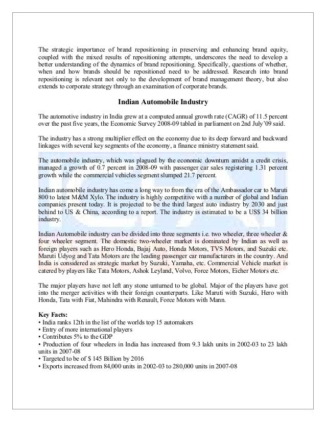 indian automobile industry analysis 2018 pdf