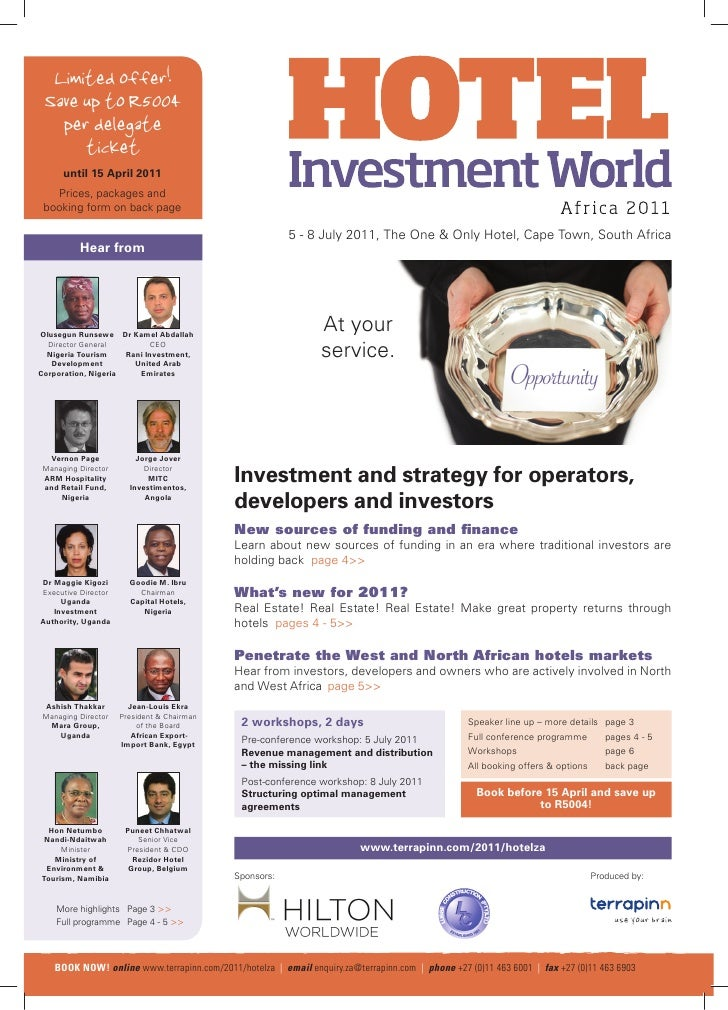 Hotel Investment World Africa 2011 conference