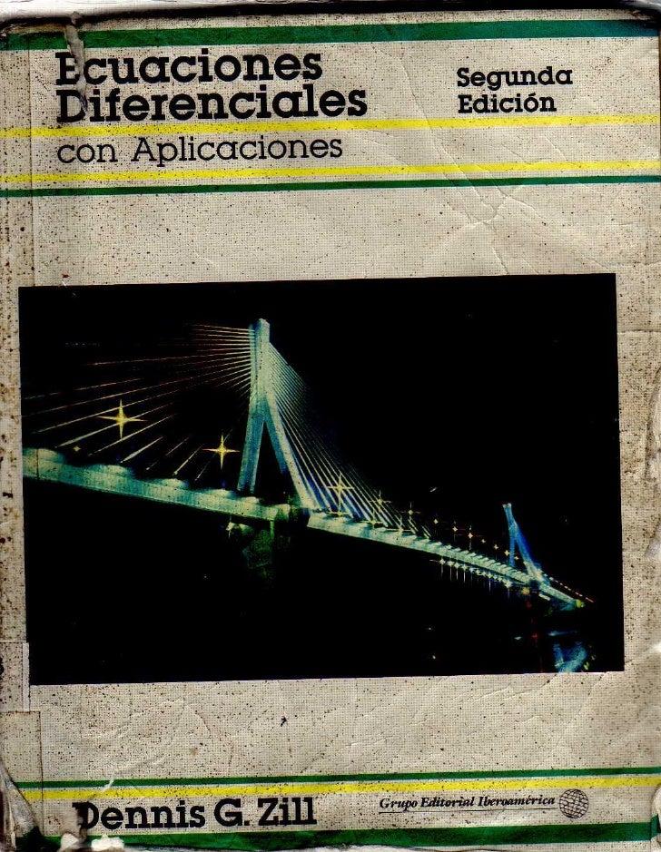 Descargar libro de ecuaciones diferenciales de dennis zill