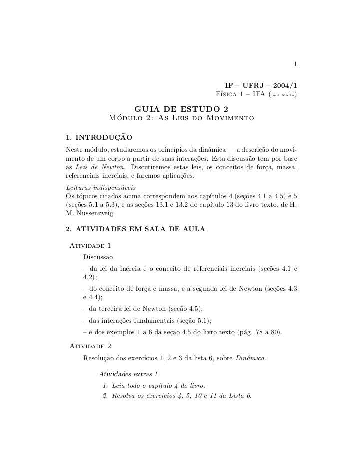 1                                                          IF { UFRJ { 2004/1                                             ...
