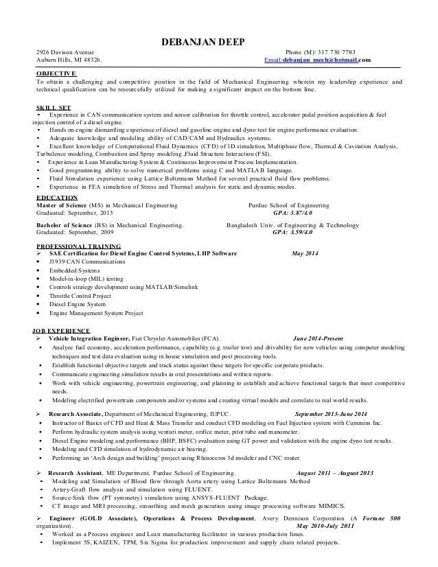 resume of debanjan deep updated