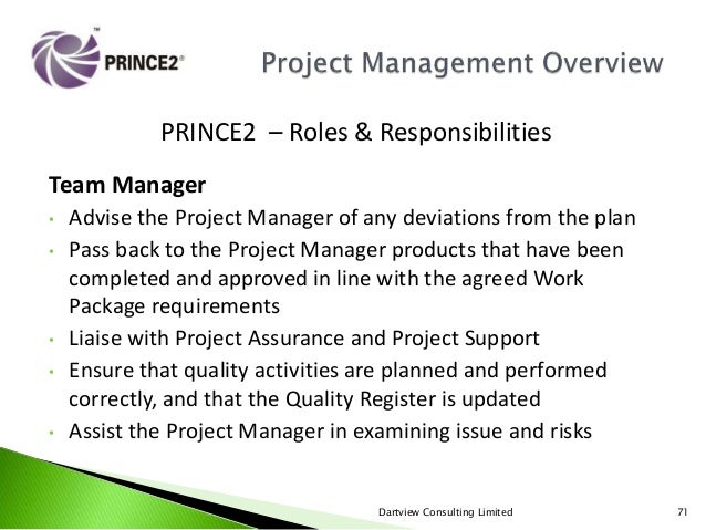 Prince2 project management overview - Back office roles and responsibilities ...