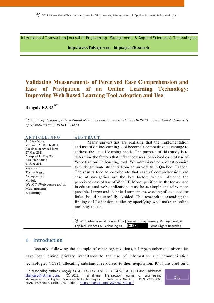 2011 International Transaction Journal of Engineering, Management, & Applied Sciences & Technologies.International Transac...