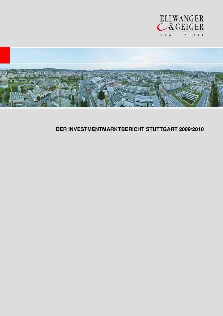 DER INVESTMENTMARKTBERICHT STUTTGART 2009/2010
