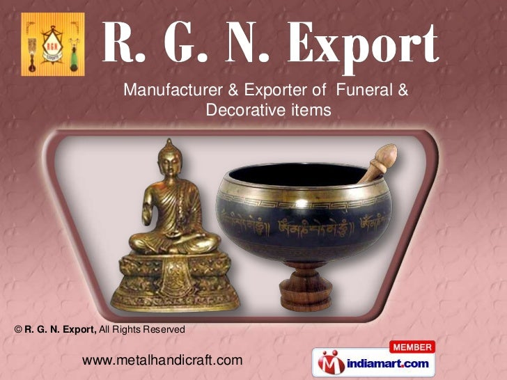 Manufacturer & Exporter of Funeral &                                  Decorative items© R. G. N. Export, All Rights Reserv...