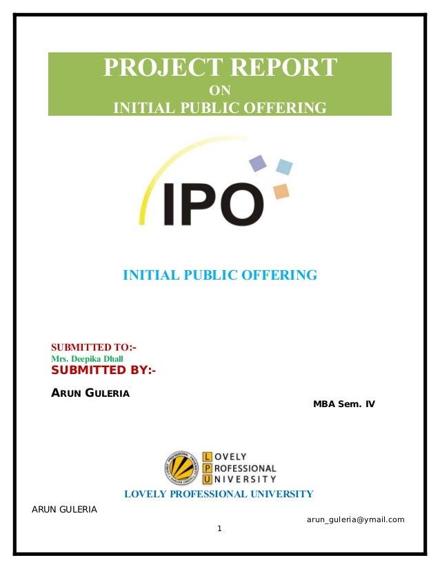Initial public offer ipo diagram