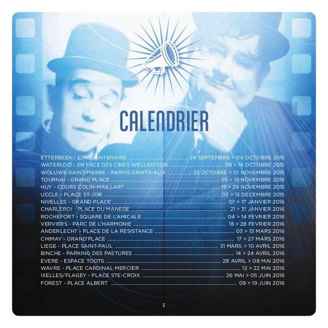 CALENDRIER ETTERBEEK - CINQUANTENAIRE ................................................ 24 SEPTEMBRE > 04 OCTOBRE 2015 WATE...