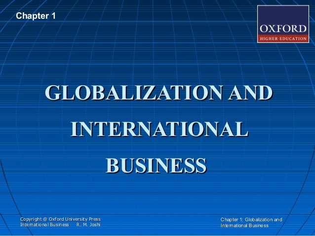 chapter 1 globalization Chapter 1 globalization and the shifting balance in the world economy globalization and the shifting balance in the world economy global trade trends since the second world war, global merchandise trade has generally grown faster than global income, but the global crisis has left its mark on trade dynamics : recovery.
