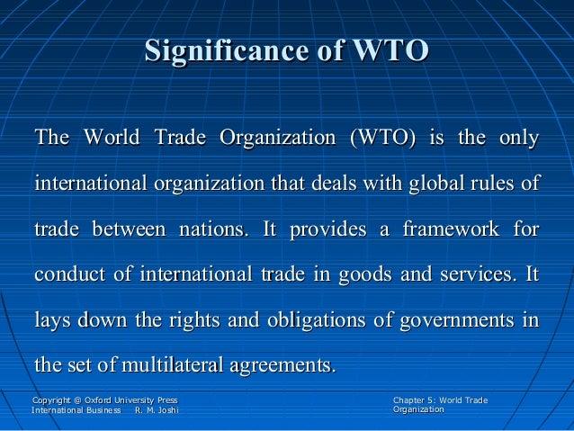 Genesis of modern international trading system