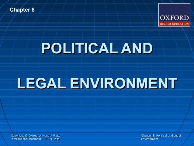 political legal environment of nestle Political / legal / regulatory: the political / legal / regulatory environment is often a direct consequence of the political parties in power, which represents the popular opinion of the citizens of the region.